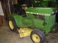 This is a very nice running John Deere 112 with a nice