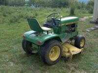 One owner, all original; 1971 John Deere 140 Tractor.