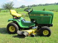 john deere 165 hydro lawn mower 38in deck new battery
