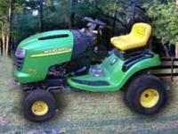 JOHN DEERE 17.5 l-110 Riding Lawn mower with a 42 inch