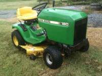 Older John Deere 180 38 inch cut, lawn
