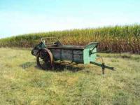 I have an antique John Deere manure spreader on steel