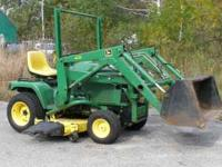 John Deere 425 tractor, 20hp liquid cooled kawasaki