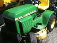 John Deere 210 Mower deck and Snowplow $1000  Leave a