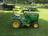runs good, has mower deck only, new starter. ready to
