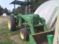 1977 John Deere 2440 with 2640 engine 70hp, new clutch,