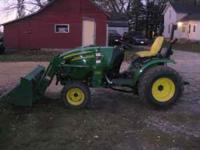 Tractor has 325 hours. Includes 200cx loader and 62d