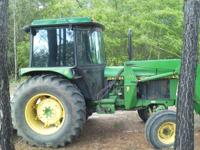 John Deere 2555 with 175 front end loader. (Bucket