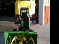 John Deere TRS27 2 stage Snow Blower with canvas