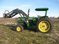 For sale a 2840 John Deere tractor with 595 allied