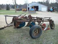 "John Deere 3-Bottom 16"" Plow Model 55-B in good"