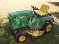 For Sale John Deere 318 Has power steering, hydralic