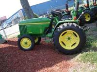 John Deere 27HP Diesel Tractor with Power Steering.