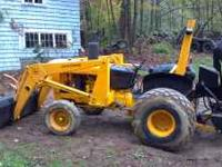 This is a 1978 John Deere industrial tractor with a 46