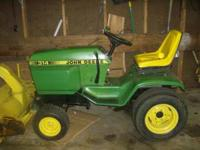 i have for sale is a nice clean john deere 314 lawn