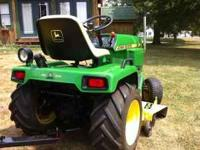 "Selling my John Deere 316 with 46"" Deck, Snowblower,"