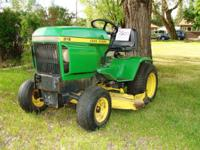 """1978 John Deere 316 riding lawn tractor: Kohler engine"