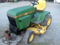 i have a 317 john deere lawn mower 48 in deck 17 horse