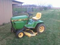I am selling a John Deere 317 riding lawn mower. It has