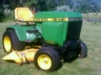 For Sale is a 1983 John Deere 317 garden tractor
