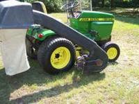 John Deere 317 Garden Tractor with power flow bagger.