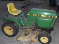 "John Deere 317 with a 48"" deck. Kohler 17hp twin"