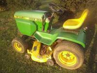 JD 317 riding mower runs drives and mowes it does smoke