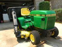For Sale : 1983 John Deere 318 lawn & garden tractor