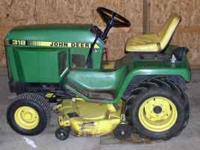 For Sale - John Deere 318 Mower with Snow Blower