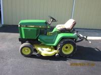 JOHN DEERE 318... WITH 3 POINT HITCH... 46 IN. MOWER