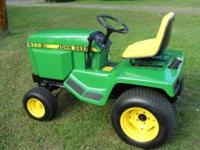 For sale a beautiful 322 John Deere garden tractor with