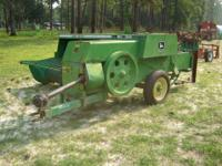 John Deere 328T Square Hay Baler (w/hitch for towing