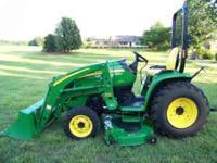 2006 John Deere 3520, 37 hp, 176hrs., 4wd, Hydrostat,