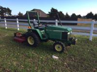 1988 28hp 3Pt John Deere tractor. Not heavily used. It