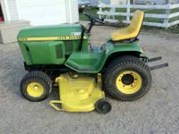 "I am selling my john Deere 400 lawn tractor. 60"" mower"