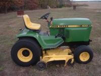 John Deere 400 Garden Tractor 20 hp replacement Kohler