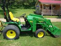 Tractor 4110 Hydrostatic with very low HRS (360 hrs )