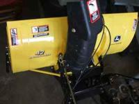 "I have a John Deere 42"" two stage snow blower tractor"