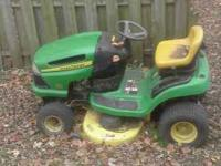 "I have a model 102 John Deere 42"" cut. riding lawn"