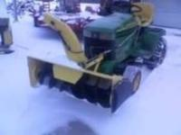 42 in. snow thrower. model and serial number all in