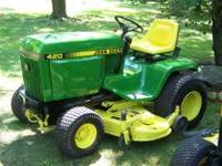 John Deere 420 Garden Tractor Epoxy primed and painted