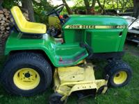 John Deere 420 tractor with 981 hours, has power