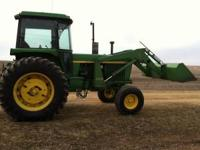 JOHN DEERE 4230 WITH JD 148 LOADER , JOY STICK, 7'