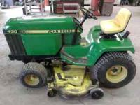 Here is a nice John Deere 430 lawn tractor with 1345