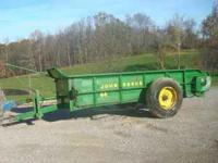John Deere 44 manure spreader, pto, bed is 53 inches