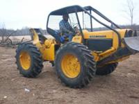 John deere 440A cable skidder new tires good runner