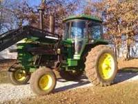 John Deere 4430; 89xx hours; Memo quick attach loader