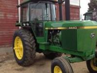 I I have for sale John Deere 4440 it has 9500 hours