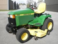"John Deere 445 Lawn and Garden Tractor with 54"" mower"