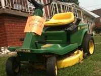 12.5hp John Deere riding lawn tractor for sale. $450